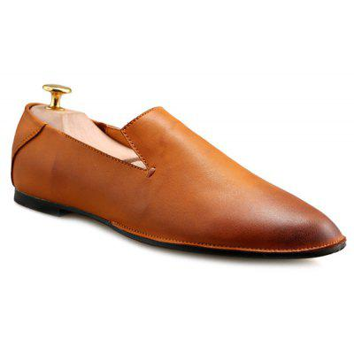Concise PU Leather and Solid Colour Design Casual Shoes For Men