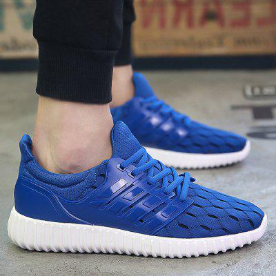 Stylish Solid Colour and Breathable Design Athletic Shoes For Men