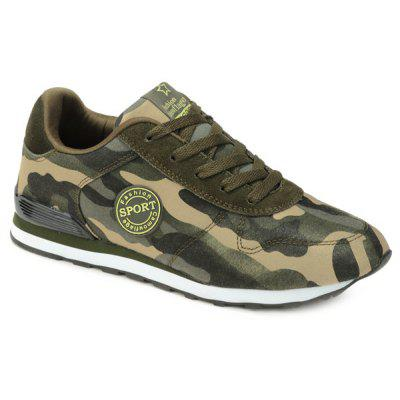 Buy ARMY GREEN CAMOUFLAGE 42 Trendy Tie Up and Camouflage Pattern Design Athletic Shoes For Men for $20.39 in GearBest store