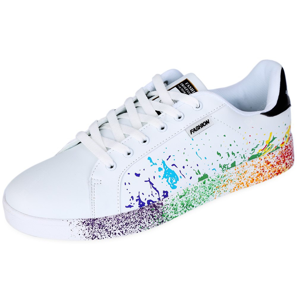 Inkjet Design Round Toe Men Canvas Shoes