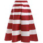 cheap Fashion High Waisted Stripes Skirt For Women