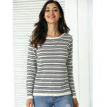 cheap Trendy Patchwork Design Striped Sweater