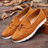 Suede simples e Tassels Design Casual Shoes For Men - CASTANHA