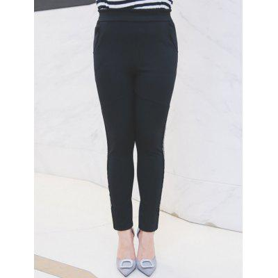Plus Size Rhinestoned Embellished Pencil Pants