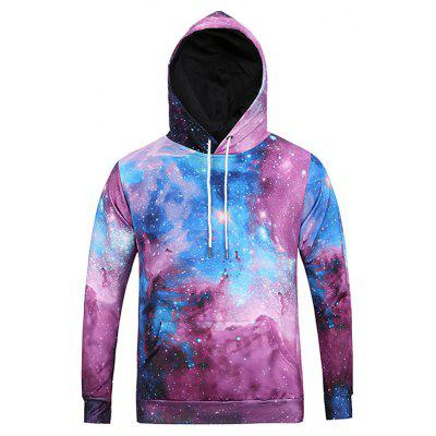 Kangaroo Pocket Long Sleeve Galaxy Hoodie