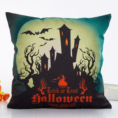 Fantastic House Light Halloween Design Linon Pillow Case