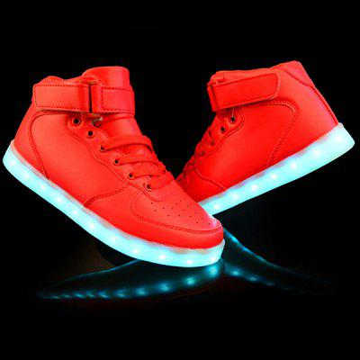 Stylish Tie Up and Lights Up Led Luminous Design Casual Shoes For Men