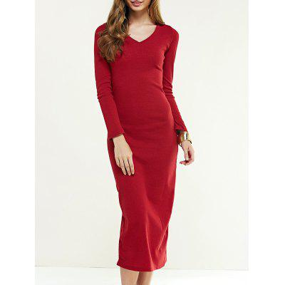 Long Sleeve Longline Jumper Dress