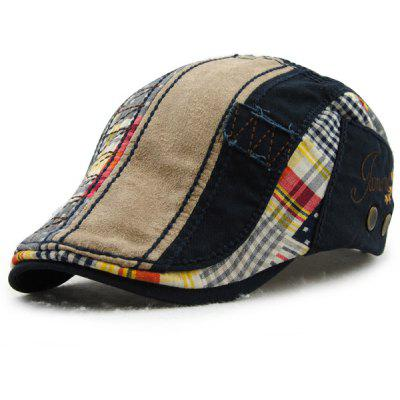 Patchwork Pattern Embroidery Outdoor Sunscreen Cabbie Hat For Men цена 2017