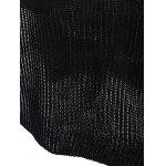 Women's Lace-Up Long Sleeve Black Furcal Sweater - BLACK
