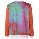 cheap Chic Letter Print Tie Dye Pullover Sweatshirt For Women