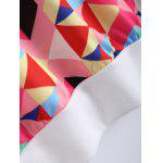 Long Sleeve Colorful Geometrical Sweatshirt - WHITE