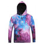 Drawstring Kangaroo Pocket Galaxy Hoodie - COLORMIX