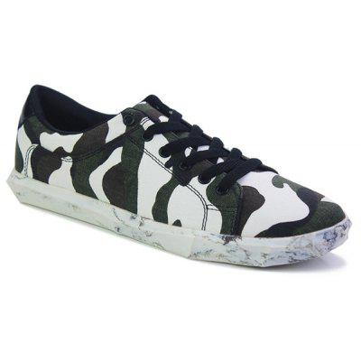 Fashion Lace-Up and Camouflage Pattern Design Casual Shoes For Men