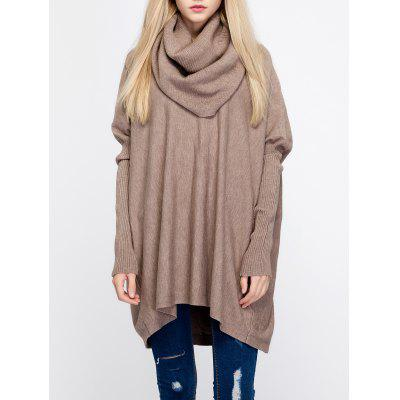 Women \ 's Cowl Neck Pure Color Pullover