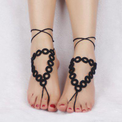 Handmade Triangle Crochet Anklets For Women