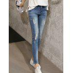 cheap Skinny Ripped Denim Pants For Women
