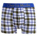 Cherlamode 3PCS (Three Color) Tartan Pattern Boxer Briefs For Men photo