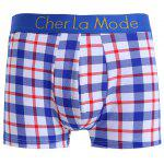 cheap Cherlamode 3PCS (Three Color) Tartan Pattern Boxer Briefs For Men