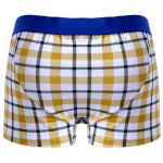 best Cherlamode 3PCS (Three Color) Tartan Pattern Boxer Briefs For Men