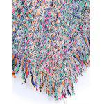 Colorful Shaggy Fringed Sweater - COLORFUL
