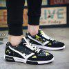 Fashion Lace-Up and Color Block Design Athletic Shoes For Men - GREEN