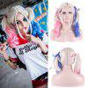 Fashion Long With Wavy Colored Bunches Synthetic Harleen Quinzel Cosplay Wig - COLORMIX