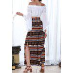 cheap Print Slit Wide Leg Pants