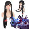 League of Legends LOL	Ahri Extra Long With Braided Black Straight Cosplay Wig - BLACK