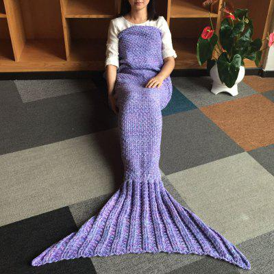Warmth Wool Knitting Mermaid Shape Blanket