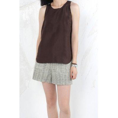 Rounded Hem Raw Edge Tank Top