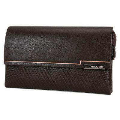 Trendy Dark Color and Embossing Design Wallet For Men