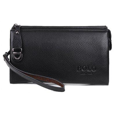 Fashion Rivet and PU Leather Design Wallet For Men