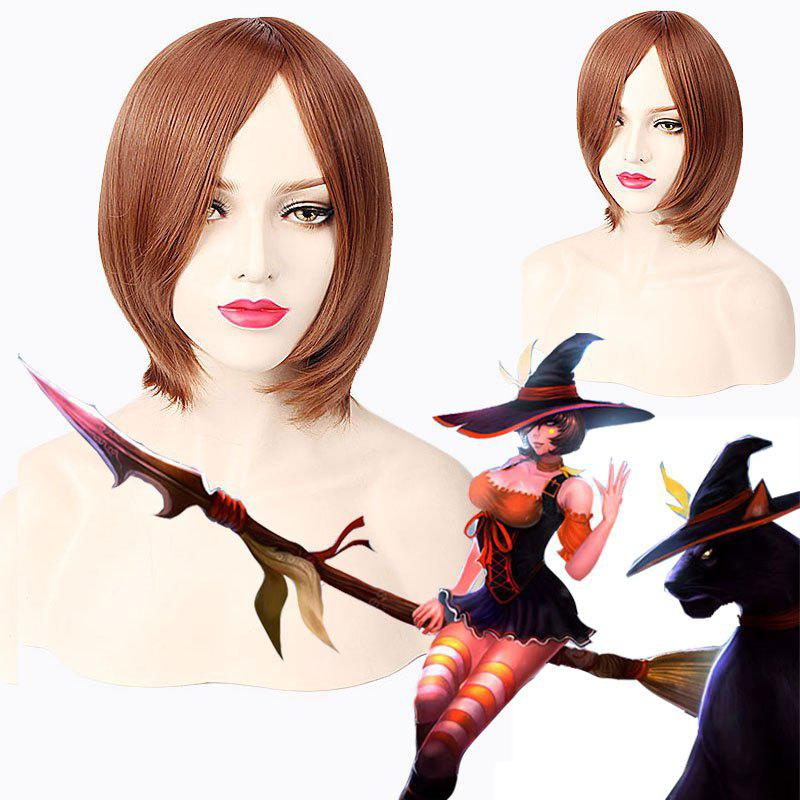 League of Legends LOL	Nidalee Halloween Witch Bewitching Short Straight Cosplay Wig