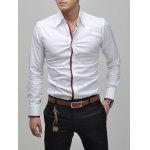 Turn-Down Collar Long Sleeve White Shirt deal