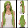 Fairy Neon Bright Green Long Side Bang Straight Film Character Cosplay Wig - NEON BRIGHT GREEN