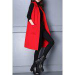 Lapel Letter Pattern Long Sleeveless Cardigan deal