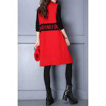 cheap Lapel Letter Pattern Long Sleeveless Cardigan