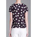 cheap Polka Dot Floral T-Shirt