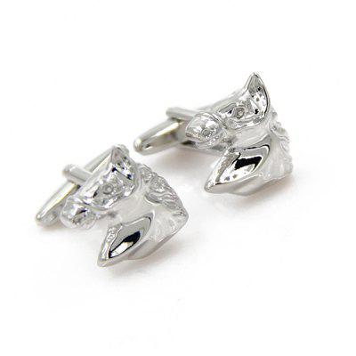 Immobile Horse Head Shape Cufflinks