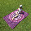 Buy Seductive Mandala Yoga Mat Gypsy Cotton Tablecloth Beach Throw Shawl Wrap Scarf PURPLE