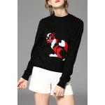 Knitted Cashmere Sweater - BLACK