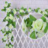 Home Decor Artificial Rose Rattan Artificial Flower - WHITE