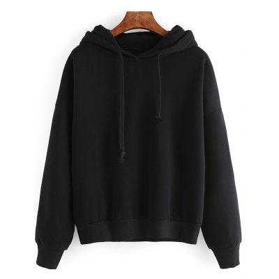 Pure Color Loose-Fitting Hoodie