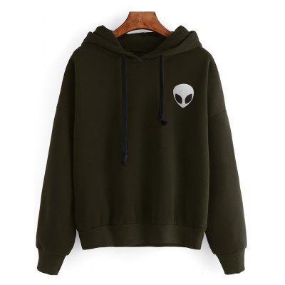 Casual Skull Print Long Sleeves Hoodie