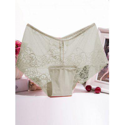 Floral Lace Splicing Scalloped Briefs