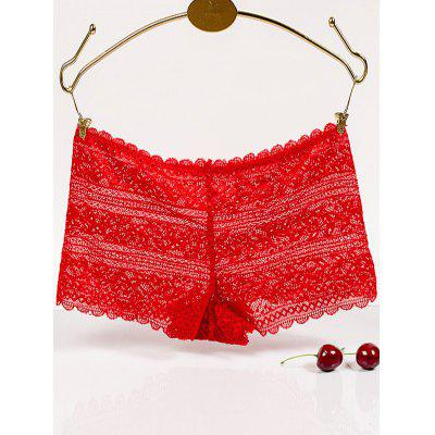 Brief Scalloped Hollow Out Lace Boyleg Briefs