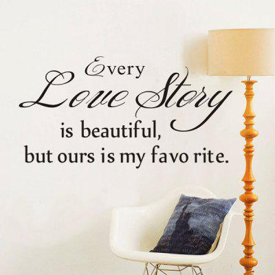 Every Love Story English Maxim Removable Room Wall Sticker