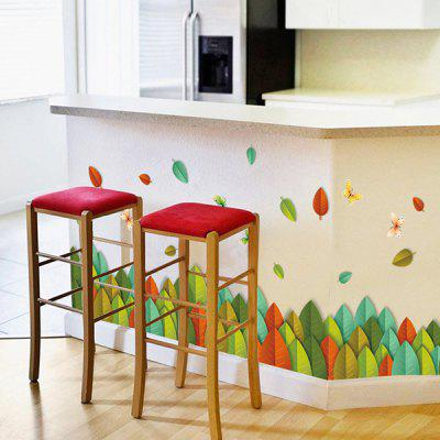 Buy COLORMIX Hot Selling Colorful Leaves Removable Wall Art Sticker for $3.94 in GearBest store