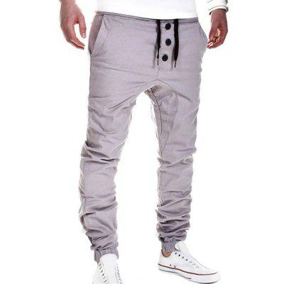 Drawstring Waistband Elastic Hem Casual PantsMens Pants<br>Drawstring Waistband Elastic Hem Casual Pants<br><br>Fit Type: Loose<br>Front Style: Flat<br>Material: Cotton Blends<br>Package Contents: 1 x Pants<br>Pant Length: Long Pants<br>Pant Style: Jogger Pants<br>Style: Casual<br>Waist Type: Mid<br>Weight: 0.296kg<br>With Belt: No